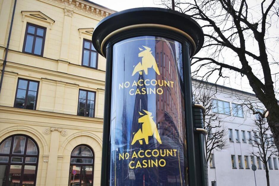 Reklam och reklamskyltar för casino